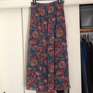 Vintage Laura Ashley tea length skirt